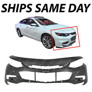 New Primered Front Bumper Cover For 2016 2018 Chevy Malibu W Park