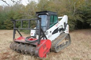2015 Bobcat T770 With Fecon Forestry Mulching Head Only 794 Hours Ex Warranty