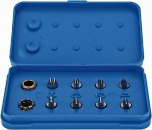 Spi 8 Piece Chrome Finish Micrometer Outside Diameter Attachment And Insert