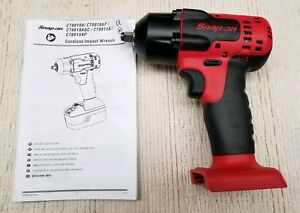 New Snap On 3 8 18v Monsterlithium Impact Wrench Ct8810a