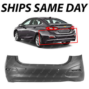 New Primered Rear Bumper Cover For 2016 2018 Chevy Cruze Sedan With Park Assist