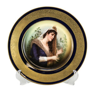 Rosenthal Porcelain Portrait Cabinet Plate Circa 1930 Beautiful Woman