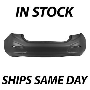 New Primered Rear Bumper Cover Replacement For 2016 2017 2019 Chevy Cruze Sedan