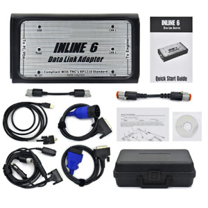 Inline 6 Data Link Adapter Heavy Duty Diagnostic Tool Scanner Full 8 Cable Truck
