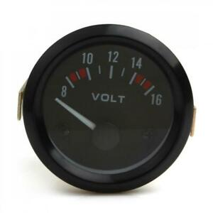2 52mm 12v 8 16v Led Electrical Car Voltmeter Voltage Gauge Meter Universal