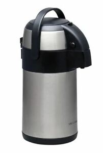 Coffee Dispenser Pot Thermos Thermal Hot Cold Beverage Pump 2 3 Quart Christmas