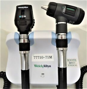 Welch Allyn 77710 71m Wall Unit With 23810 Otoscope And 11720 Ophthalmoscope