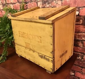 Antique Omaha Box Co Wood Dairy Milk Delivery Box Original Paint Good Condition