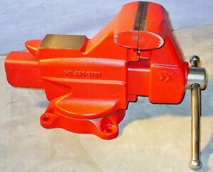 Craftsman Swivel Base Heavy Duty Anvil Bench Vise With 5 Jaws pipe Jaws 7 Open