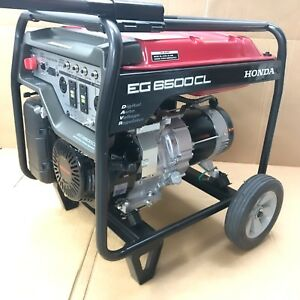 Honda Eg 6500cl 6500 Watt Portable Gas Generator W Wheel Kit Davr 120 240