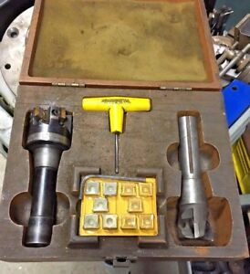 2 Kennametal R8 Indexable Face Mill Cutter Boxed Set Machinist Milling Machine