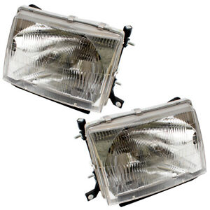 Fits Toyota Tacoma 97 00 Truck Set Of Headlights Headlamps Lens W Housing