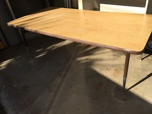 Retro Vintage Chrome 1970 S Child Size Formica Top Coffee Table 60 30 22