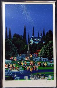 Hiro Yamagata Silk Screen Starlight Party Autographed 528 760mm Good A40