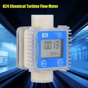 Turbine Digital Diesel Oil Fuel Flow Meter Gauge 1 bspp Chemicals Liquid Water