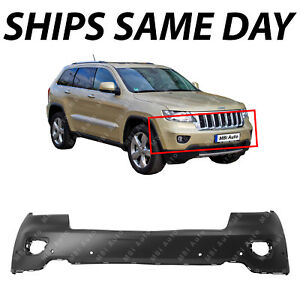 New Primered Front Bumper Cover For 2011 2013 Jeep Grand Cherokee W Park Fog