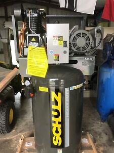 Schulz 7 5 Hp Single Phase Cast Iron Air Compressor