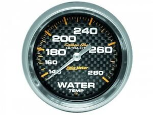 Autometer 4831 Carbon Fiber Ultra Lite 2 5 8 Water Temperature 120 280 Degrees