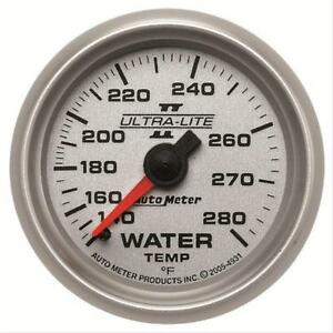 Autometer 4931 Ultra Lite Ii Water Temperature Gauge 2 1 16 Mechanical