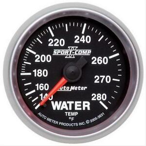 Autometer 3631 Sport comp Ii Water Temperature Gauge 2 1 16 Mechanical