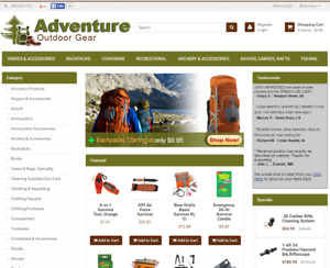 Outdoor Survival Gear Turnkey Website For Sale Established Domain