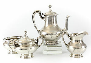 4pc Mauser Manufacturing Co Sterling Silver Coffee Service Set C1900