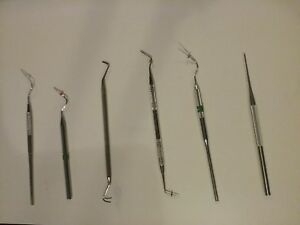 Lot Of 6 Dental Instruments Endodontic Pluggers Asstd Makers Sizes