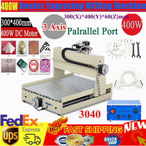 400w 3 Axis 3040 Cnc Router Engraver Desktop Engraving Drilling Milling Machine