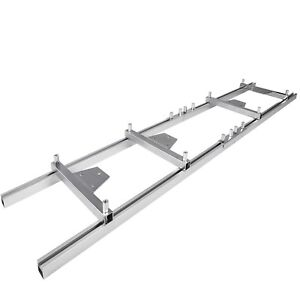 Chainsaw rail Mill Guide System 9ft 2 7m 4 Reinforce 6x3ft Saw Mill Durable