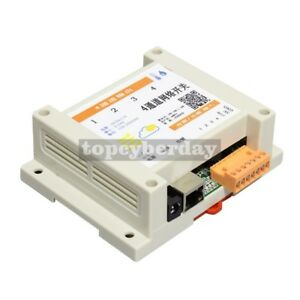 4ch Network Relay Switch Local Remote Gprs Mobile Web Control Soft Temp Humidity