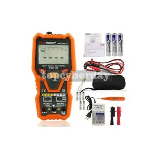 Auto Range Digital Multimeter Voltmeter Ncv Backlit Temp Transistor Test Pm8248s