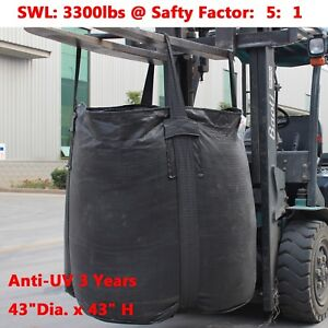 New Heavy Duty Pp Fibc sack Bulk Bag Ton Bag 3300lb Swl Duffle Top Anti uv 3y
