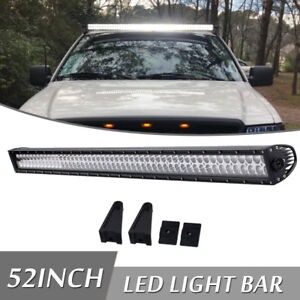 Offroad 700w 52inch Led Light Bar Flood Spot Combo Truck Roof Driving 4wd