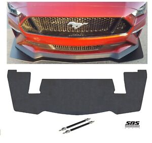Gt350r Style Front Splitter 2 Rods For 2018 2020 Mustang Gt Performance Pack