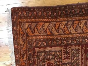 Antique Persian Kurdi Bof Kordi 5 3 X 4 3 Hand Knotted Wool Afghanistan Rug
