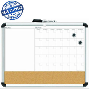 Board Dudes 17by23 Aluminum Framed Magnetic 3in1 Dry Erase Cork Calendar Boards
