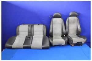 2003 2004 Ford Mustang Cobra Svt Oem Black Leather Suede Coupe Seats 03 04 Seat