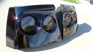 Custom Oem 06 10 Charger Smoked Tail Lights Black Tinted Non Led Painted