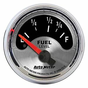 Auto Meter 1215 2 1 16 American Muscle Fuel Level Gauge 73 10 Ohm Air core