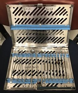 Variety Of Dental Hygiene Set With 17 Instruments Plus Sterilization Case
