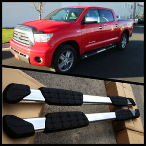For 07 19 Toyota Tundra Crew Max Cab 5 Oval Nerf Bars Side Step Oe Style
