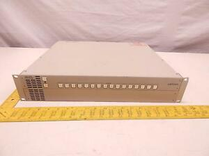 Leitch 16x1p Fr x 2r0 2ac Video Switch Router Control Panel Proaudio Rack Mount