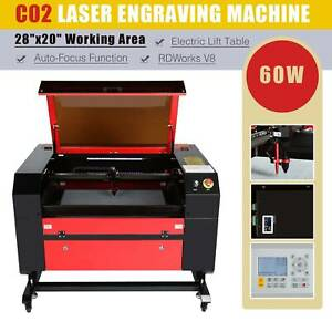 50w Laser Engraving Cutting Machine Co2 Engraver Cutter 500mm X 300mm W Rotary