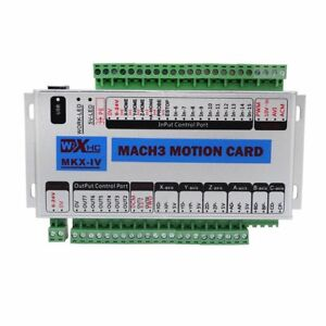 Fisters Mach3 Usb 4 Axis Cnc Motion Control Card Breakout Board 400khz Support 7