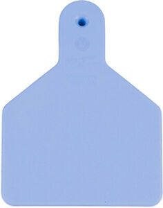 Z Tags Blank Calf One Piece Ear Tags 25 Count Blue