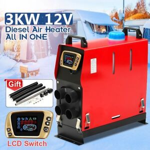 3kw 12v All In One Air Diesel Heater Heating For Car Truck Motor home Boat Bus 2