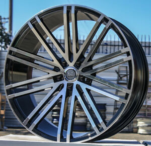 26 Inch U2 36 Black And Machine 4 Wheels 4 Tires Fits All 6 Lug Silverado