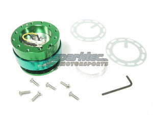 Nrg Steering Wheel Quick Release Kit Generation 2 0 Green Body W Green Ring New