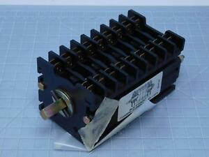 Schneider 9011198a1 9 Contact Rotary Block Switch T129033