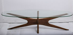 Vintage Adrian Pearsall Coffee Table Mid Century Modern With Free Shipping